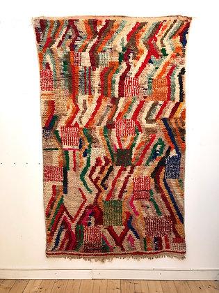 Tapis Boujaad à motifs colorés 2,41x1,46m