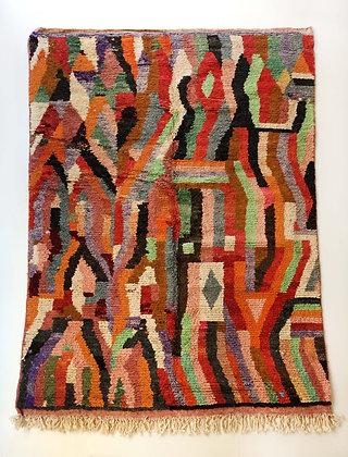 Tapis berbère Boujaad à motifs colorés 2,94x1,92m