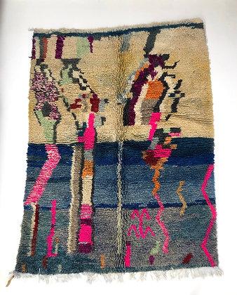 Tapis berbère Boujaad à motifs colorés 1,92x1,42m