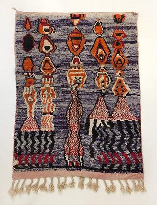 Tapis berbère Boujaad à motifs colorés 2,47x1,62m