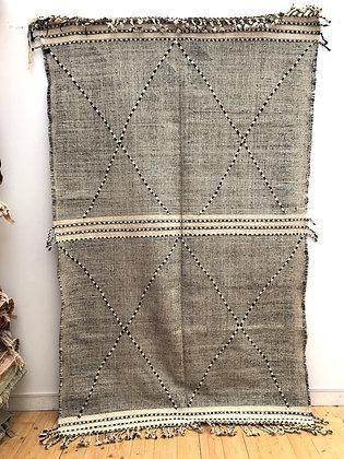Kilim Zanafi noir et blanc 2,78x1,72m