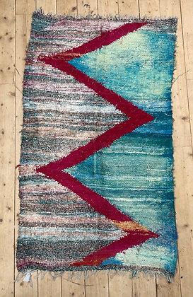 Tapis berbère Kilim Boucherouite 1,57x0,93m