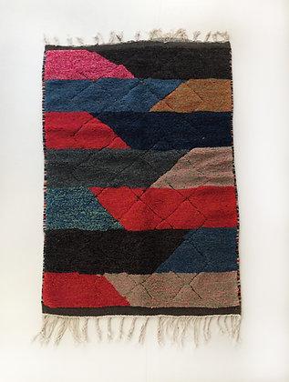 Tapis berbère Beni Ouarain à motifs colorés 1,93x1,15m