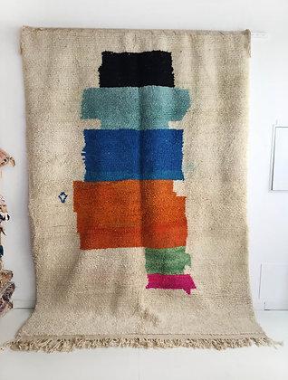 Tapis berbère Beni Ouarain à motifs colorés 2,94x2,08m
