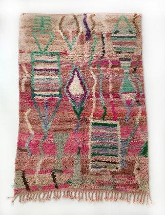 Tapis berbère Boujaad à motifs colorés 2,48x1,55m