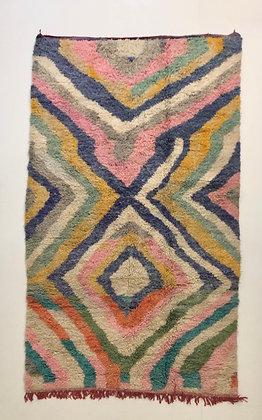Tapis berbère Boujaad teintes pastels 2,66x1,56m