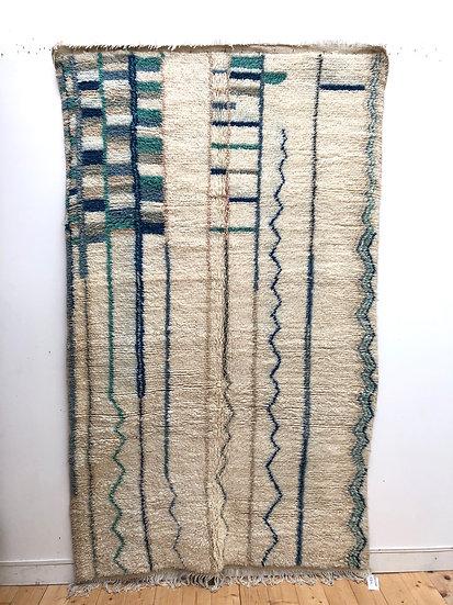Tapis berbère Azilal à motifs colorés 2,62x1,54m