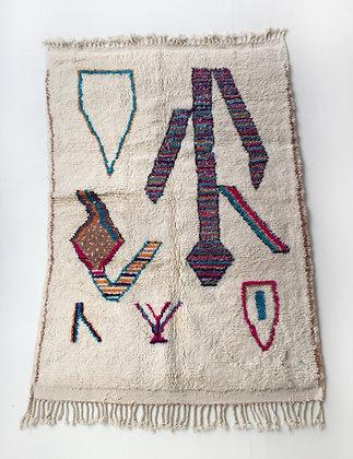 Tapis berbère Azilal à motifs colorés 2,15x1,55m