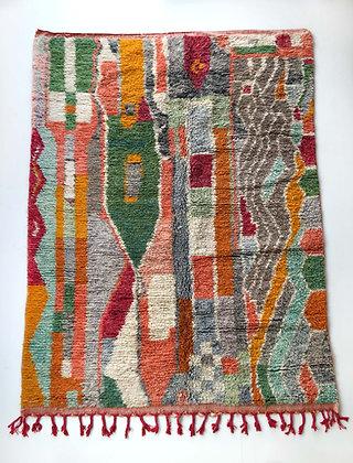 Tapis berbère Boujaad à motifs colorés 2,84x2m