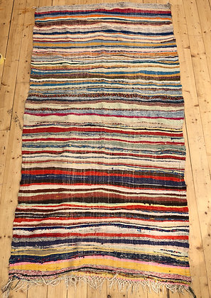 Tapis berbère Kilim Boucherouite 2,52x1,27m