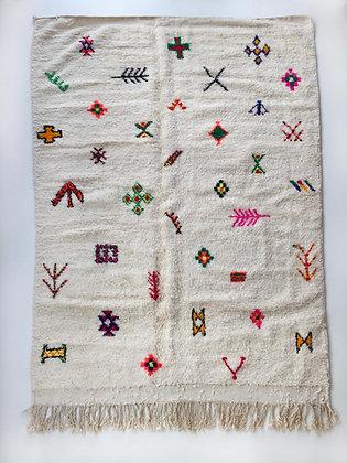 Tapis berbère Azilal à motifs colorés et fluo 3,02x1,98m