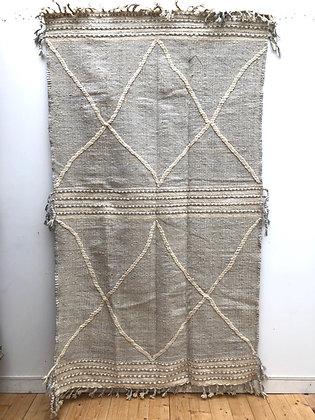 Kilim Zanafi gris clair à losangs 2,55x1,45m