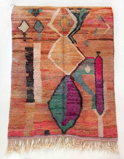 Tapis berbère Boujaad multicolor à motifs 2,98x1,95m