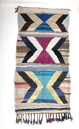 Tapis berbère marocain Kilim Boucherouite 2,4x1,20m