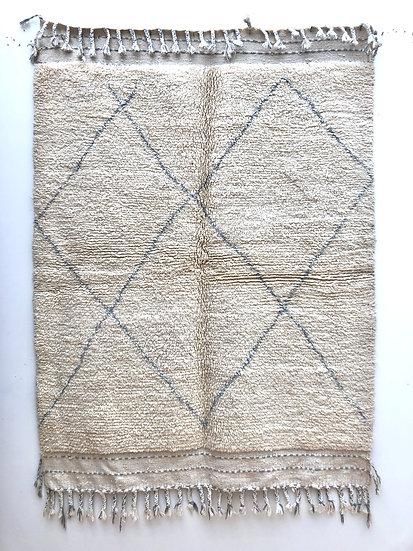 Tapis berbère Beni Ouarain à losanges gris 1,95x1,5m