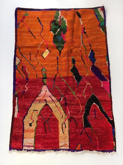 Tapis berbère Boujaad à motifs colorés 2,47x1,60m