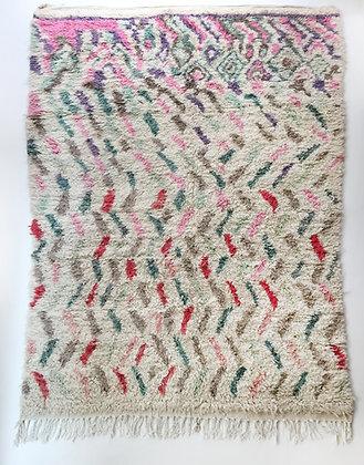 Tapis berbère Boujaad à motifs colorés 2,90x1,91m