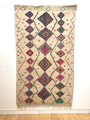 Tapis Azilal à motifs de losanges colorés 2,45x1,41m