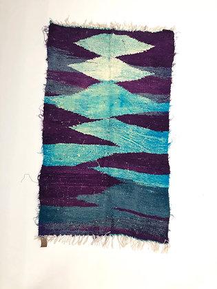 Tapis berbère Kilim Boucherouite 1,45x0,9m