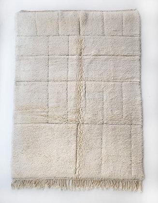 Tapis berbère Beni Ouarain à motifs géométriques gravés 2,42x1,56m