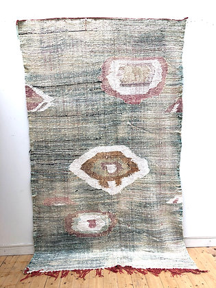 tapis berbère Kilim Boucherouite pastel 2,93x1,7m