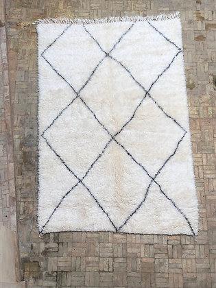 Beni Ouarain Marmoucha 2,51x1,66 losanges noirs