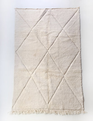 Tapis berbère Beni Ouarain uni à motifs gravés dans la trame 2,50x1,50m