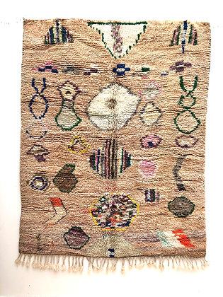 Tapis berbère Boujaad à motifs colorés 2,14x1,7m