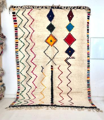 Tapis berbère Azilal à motifs colorés 3,06x2,18m