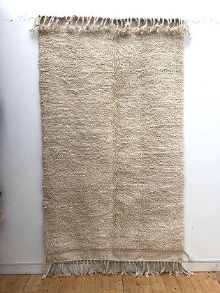 Tapis berbère Beni Ouarain uni sans motifs 2,5x1,48m
