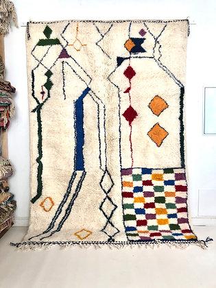 Tapis berbère Azilal à motifs colorés 2,92x2,05m