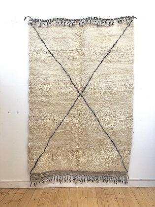 Beni Ouarain écru à croix noir 2,47x1,63m