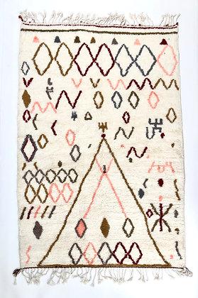 Tapis berbère Azilalà motifs colorés 2,49x1,62m