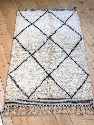 Beni Ouarain à losanges noirs 1,5x0,98m