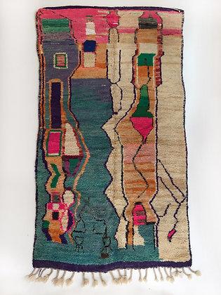 Tapis berbère Boujaad à motifs colorés 2,90x1,45m