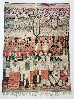 Tapis berbère Boujaad à motifs colorés 2,85x1,86m