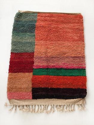 Tapis berbère Boujaad à aplats colorés 1,50x1,17m
