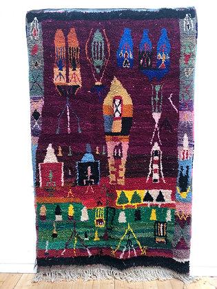 Tapis berbère Boujaad à couleurs vives 2,57x1,65m