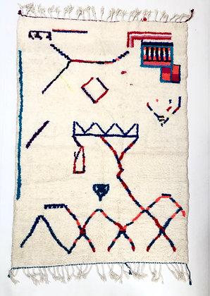 Tapis berbère Azilal à motifs colorés 2,4x1,69m