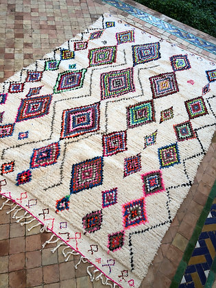 Azilal 2,82x1,96m losanges multicolores