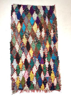Tapis berbère Boucherouite 1,84x0,99m