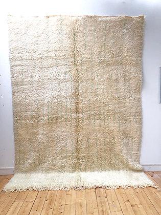 Tapis berbère Marmoucha à motifs de lignes menthe 3,06x2,23m