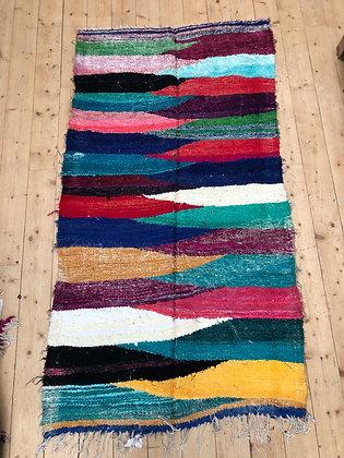 Tapis berbère Kilim Boucherouite 2,01x1,08m
