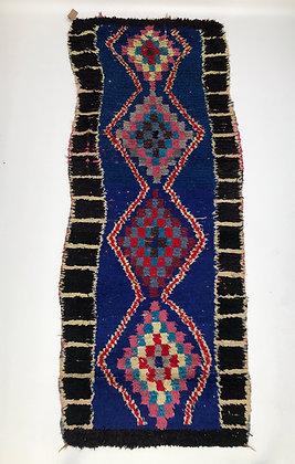 Tapis berbère Azilal 2,37x1m Vintage