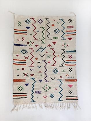 Kilim berbère à motifs colorés 1,49x1,02m