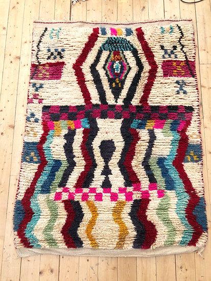 Tapis berbère Boujaad coloré 1,85x1,37m