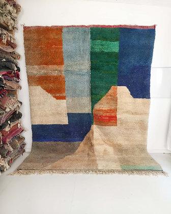 Tapis berbère Boujaad à aplats colorés 3,40x2,51m