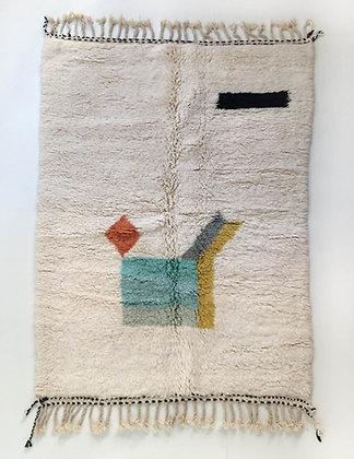 Tapis berbère Beni Ouarain à motifs colorés 2,50x1,62m