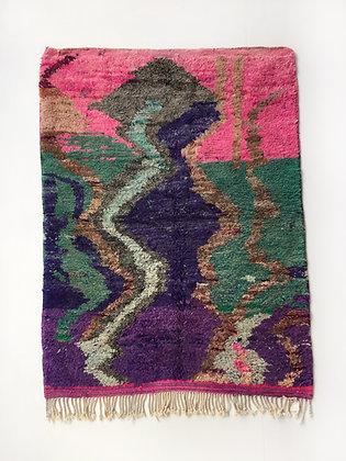 Tapis berbère Boujaad à motifs colorés 1,70x1,23m