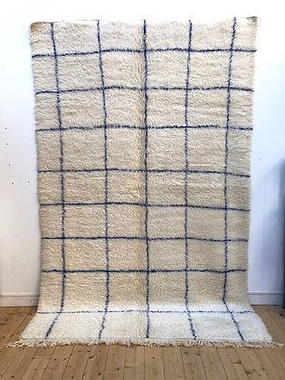 Marmoucha à carreaux bleu majorelle 3,16x1,96m